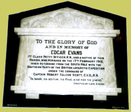 Evans' Plaque in St Mary's Church