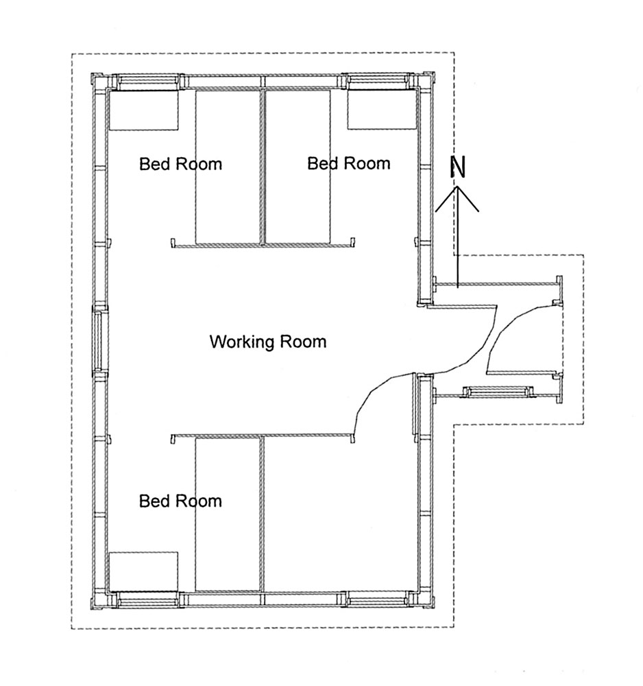 Photo party floor plan images karas party ideas royal for Small hut plans