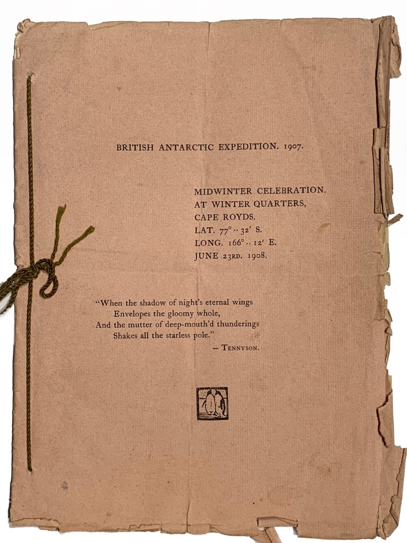 e537931f82a3 Lot 2. The British Antarctic Expedition 1907-1909 led by Ernest Shackleton  - October 27th 1907. The Original Contract of Service Agreement between  Commander ...
