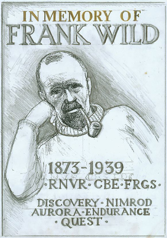 Sketch of Frank Wild plaque