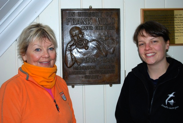 Angie with Elsa Davidson with Frank Wild plaque